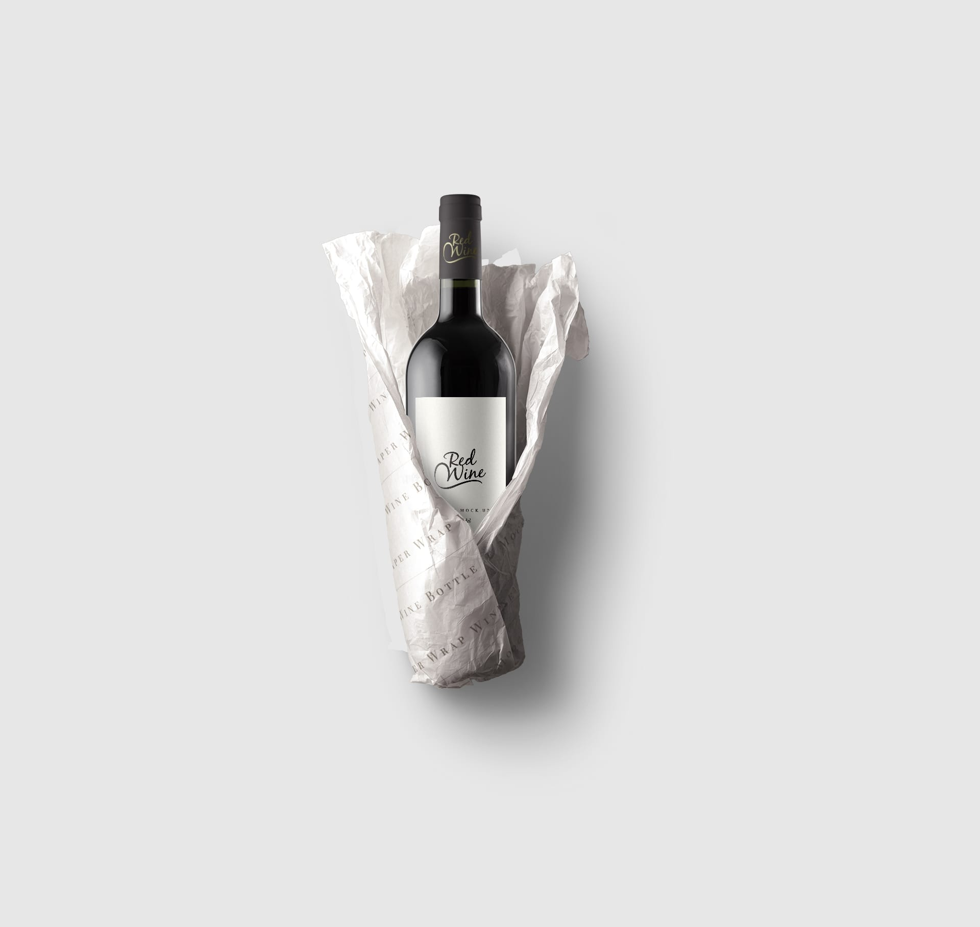 Paper-Wrap-Wine-Bottle-Mockup